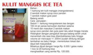 Kulit Manggis Ice Tea